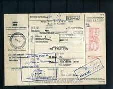 BOLETIN DE EXPEDICION [encomiendas],-CALI  via B/-TO MIAMI U.S.1974 used ,- RARE