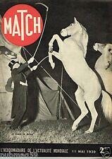 Match 11/05/1939 Le Cirque en voyage,le Bagne