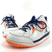 Mens Air Jordan Flight TR 97 White Blue Orange Knicks Colors 574417-107 Size 8