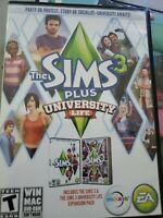 The SIMS 3 Plus University Life WIN MAC DVD-ROM Software TEEN EA MAXIS