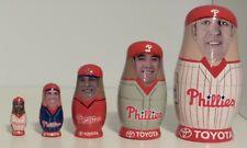 Philadelphia Phillies Babooshkah Nesting Dolls, Thome Rollins Abreu Burrell Lieb