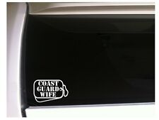 """Coast Guard Wife Dog Tags Vinyl Sticker Car Decal 6"""" L79 Military Family Soldier"""