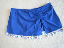 NEW NWT Profile by Gottex skirted bottom blue trimmed swim separate 14 L LARGE