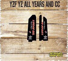 YAMAHA YZ YZF MOTOCROSS LOWERFORK GRAPHICS-STICKER KIT-DECALS-BLACK