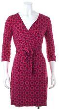 DIANE VON FURSTENBERG Pink Navy Floral Printed New Julian Two Wrap Dress Size 4