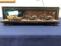 Weaver Custom Army 50' Flat Car w/ Army Cars & Supplies #17191 Mth Lionel K-line