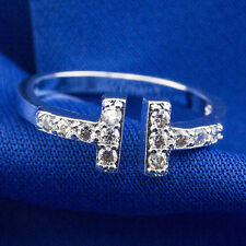 Wholesale 925 Sterling Silver Plated Women Fashion jewelry Rings SIZE OPEN #21