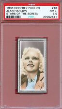 1936 Stars of the Screen Card #18 JEAN HARLOW Blonde Bombshell Actress PSA 7.5