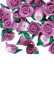 2 Polymer Polyclay 13mm Flower Clay Beads In Many Colors and 3D Rose Shapes