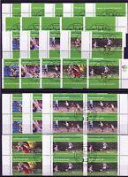 Bund 2324 - 2328 Eckrand o. VB Viererblock gestempelt Vollstempel ESST Fußball