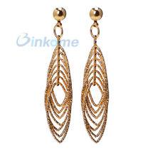 Yazilind 18K Gold Plated Cluster Long Earrings Stud Dangle Earrings Women