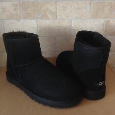 UGG Australia Classic Mini Suede Sheepskin Black Winter Boots Size US 8 Mens