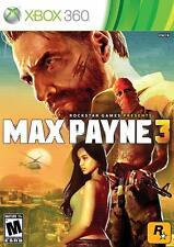 SEALED NEW Max Payne 3 Microsoft Xbox 360 Video Game Dark Multiplayer Shooter