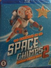 Space Chimps 2 Zartog Strikes Back (Blu-ray, 2010) 3D + 2D + Glasses New Sealed
