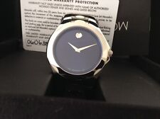 New Swiss Made Men's Movado Luno Sport Blue Dial  Watch 0606385 MSRP $895