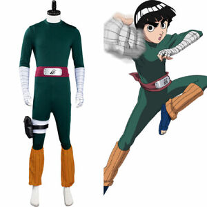 Rock Lee Cosplay Costume Jumpsuit Outfits Halloween Carnival Suit