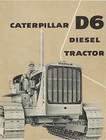 Caterpillar D6 Diesel Tractor Sales Booklet 1956