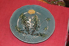 Vintage Baden Pottery Majolica Pottery Plate W/Daffodil Flowers-Marked Plate