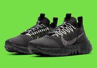 Nike Space Hippie 01 Running Shoes Black Anthracite Volt DJ3056-001 Men's NEW