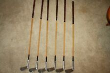 Antique Faux Wood Shaft Walter Hagen  6 Club Iron Set Golf Clubs Champion