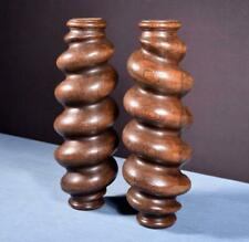 "*14"" Large Antique Spiral Turned/Barley Twist Posts/Pillars/Columns in Oak Wood"