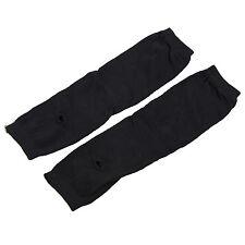 Lady Stretchy Soft Arm Warmer Long Sleeve Fingerless Gloves - Black BEB