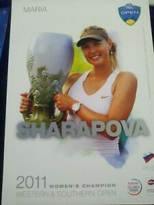WTA WESTERN & SOUTHERN 5x7 MARIA SHARAPOVA TENNIS CARD 2012 EDITION G/AWAY