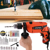 """710W 1-1/2"""" Corded Electric Rotary Hammer Drill Plus Demolition Chisel Bits Case"""
