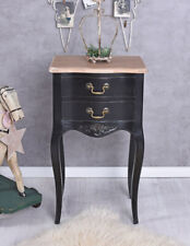 Dresser Black Console Table Vintage Wall Side Cottage