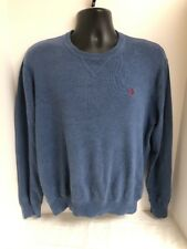 Polo Ralph Lauren Blue 100% Cotton Crewneck Pullover Sweater Mens Sz LARGE
