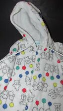 Carters baby vintage bears primary balloons fleece snowsuit coverall Large 21-26