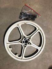 "Hutch exel Old Bmx White 20"" Freestyle Bike Mag Wheels Trick Star Styler Rear"