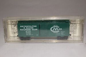 KADEE MICRO TRAINS N SCALE 40' STANDARD STEEL BOXCAR METRO CENTRAL RR, KNUCKLE