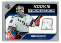 05-06 Upper Deck Rookie Threads Jersey Henrik Lundqvist #RT-HL