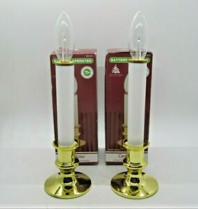 """Set of 2 Enchanted Forest Battery Operated Candolier 8 3/8"""" Tall New"""