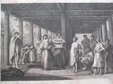 Baile en ulietea mares del sur Isla De Cobre Grabado cocineros Geografía 1800
