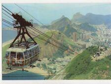 Brazil Rio De Janeiro Bondinho do Pao de Acucar Postcard 781a