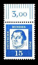 BUND bed. Deutsche (x)  15 Pf, (Mi. 351) Martin Luther ** Oberrandmarke Luxus