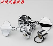 2L2R Chrome Modern Wilkinson JIN HO open Bass Tuner w/ Mounting Hardware JB-450