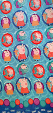 "Peppa Pig Family Papa George Pig Blue FABRIC - L94""xW38"" inches - Cotton Blend"