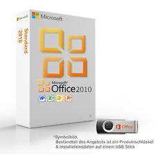 MS Microsoft Office 2010 Standard 1PC Original 64/32-Bit mit USB Stick