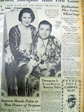 1931 newspaper w photo BABE RUTH toPLAY BASEBALL EXHIBITION GAME n SAN FRANCISCO