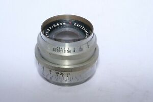 Vintage Carl Zeiss Jena Biotar 5.8cm f2 lens in PRAKTIFLEX M40 tread mount.