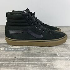 Vans Sk8-Hi Reissue Canvas Skate Casual Sneakers Shoes Men's Size 9.5 Black/Gum