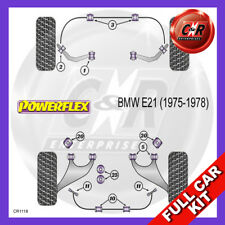 BMW E21 3 Series (1975 - 1978) Non Adjust Powerflex Complete Bush Kit