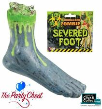 BIO HAZARD ZOMBIE SEVERED FOOT Gruesome Radioactive Foot Prop Decoration 68666