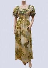 Robe Longue T 40 / 42 L / XL Djellaba Broderie Perle Fête Cérémonie Caftan Dress