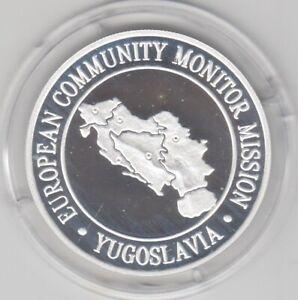 25 ECU  Jugoslawien   EG Monitor Mission  Silber  PP  1992   Auflage 7500  COA