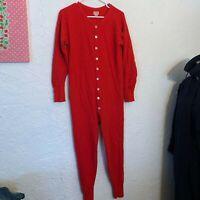 Vintage DUOFOLD Red UNION SUIT LONG JOHNS Sz L