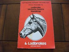 Tarjeta de carreras Nottingham - 11TH, 1977 de abril-Ladbroke victoria centro Handicap